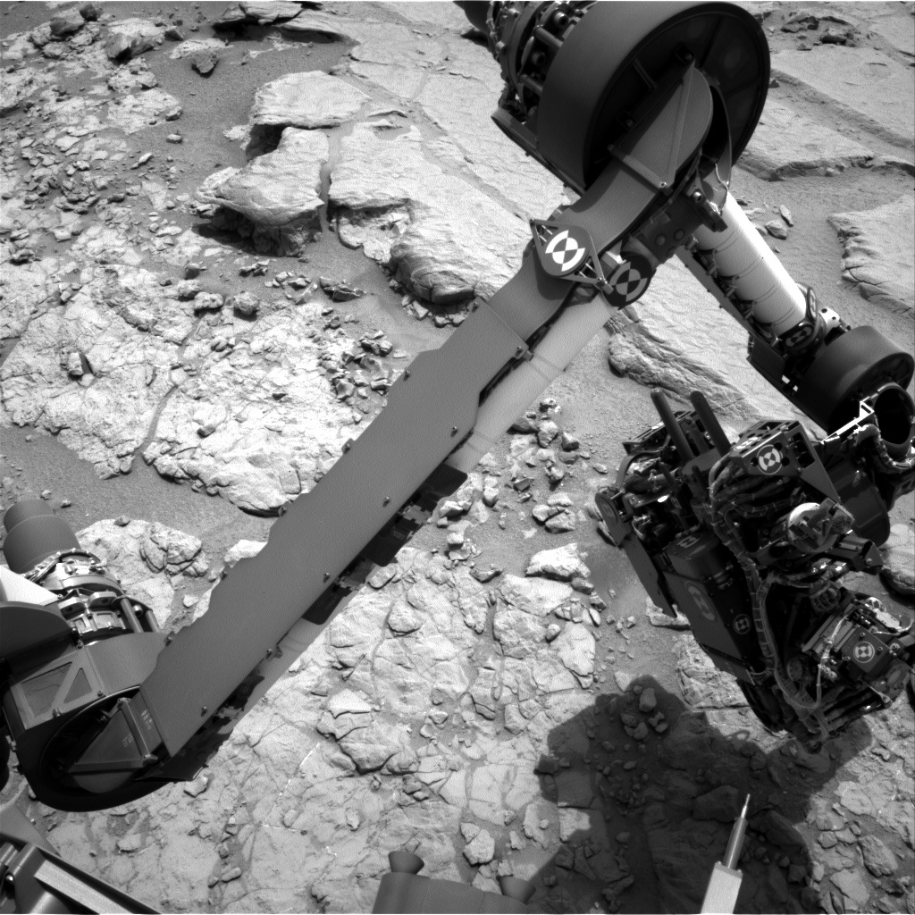 NASA's Mars rover Curiosity acquired this image using its Left Navigation Camera (Navcams) on Sol 156