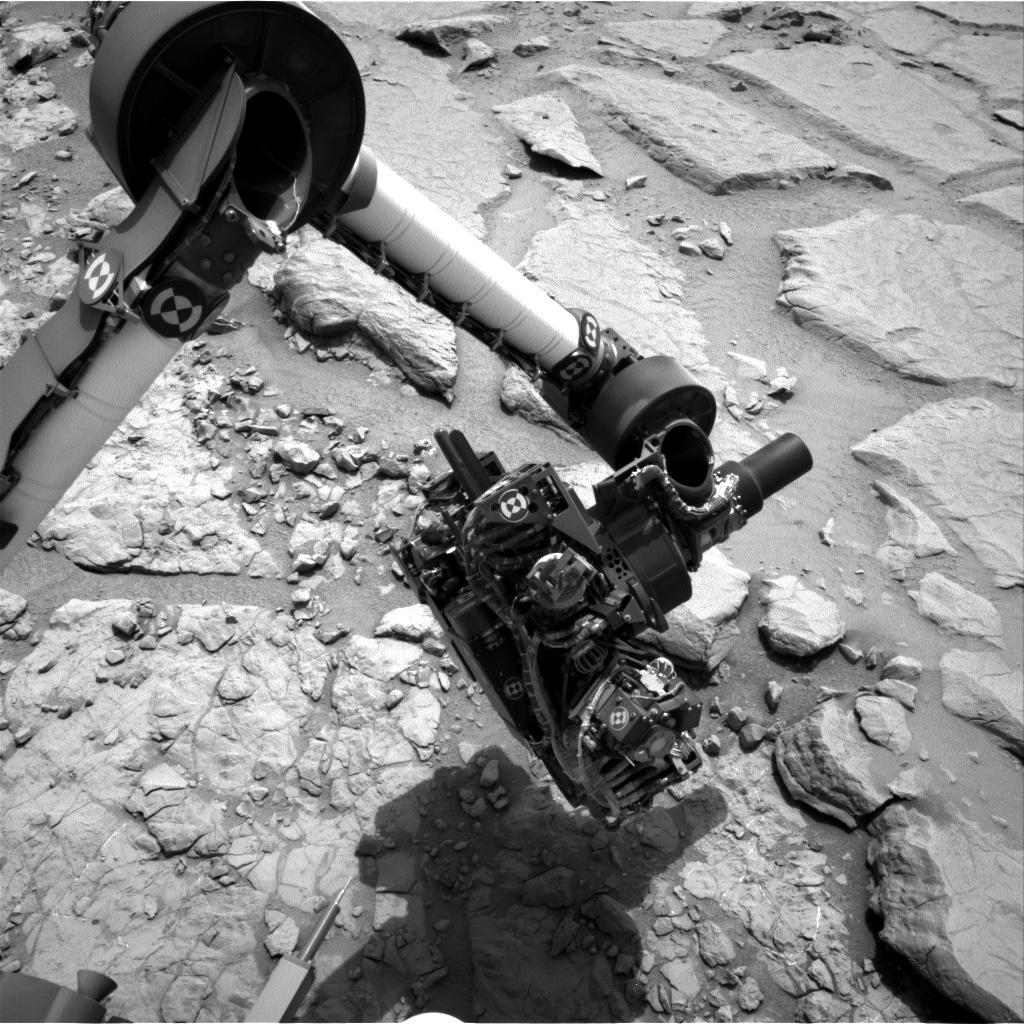 NASA's Mars rover Curiosity acquired this image using its Right Navigation Cameras (Navcams) on Sol 156