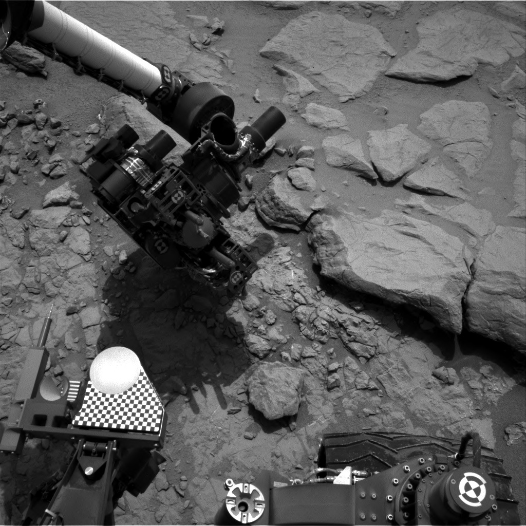 NASA's Mars rover Curiosity acquired this image using its Right Navigation Cameras (Navcams) on Sol 158