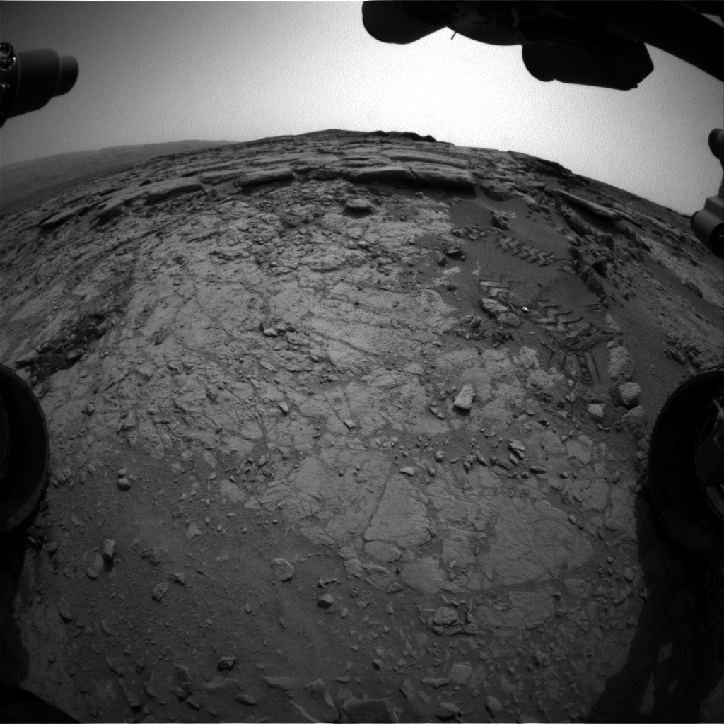 NASA's Mars rover Curiosity acquired this image using its Front Hazard Avoidance Cameras (Front Hazcams) on Sol 159