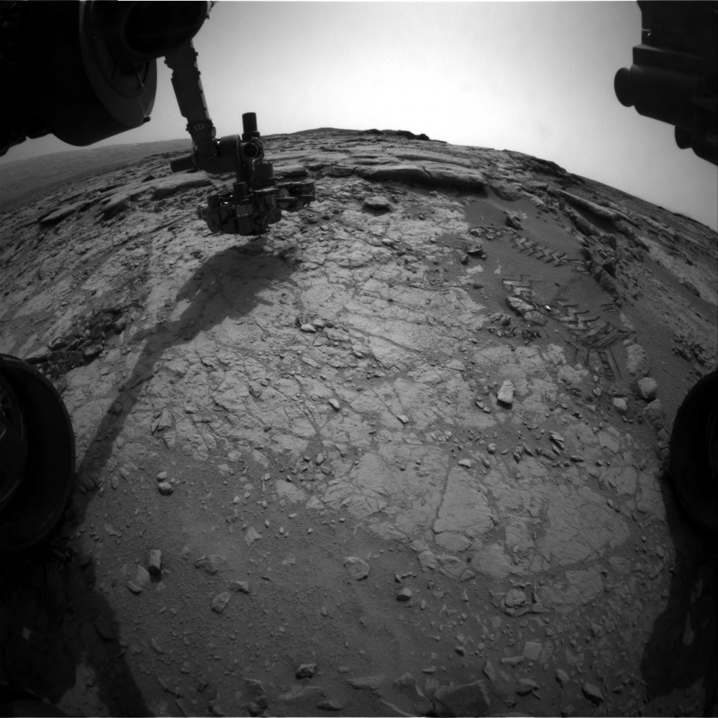 NASA's Mars rover Curiosity acquired this image using its Front Hazard Avoidance Cameras (Front Hazcams) on Sol 160