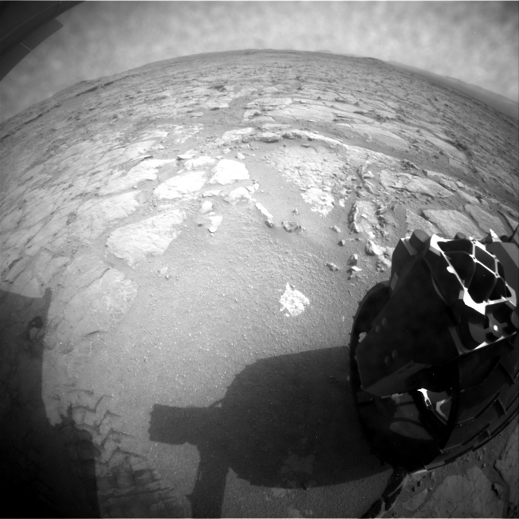 NASA's Mars rover Curiosity acquired this image using its Rear Hazard Avoidance Cameras (Rear Hazcams) on Sol 160