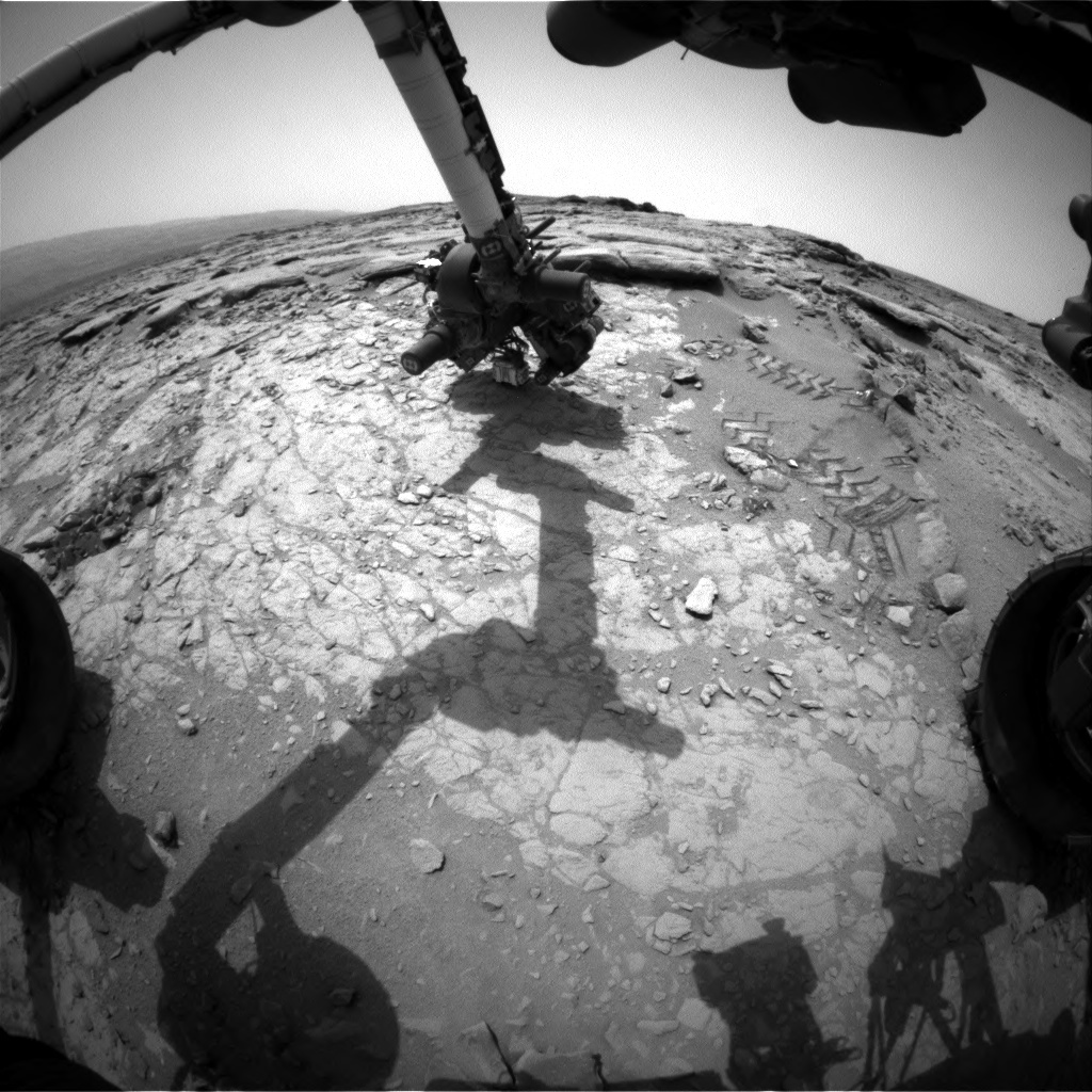 NASA's Mars rover Curiosity acquired this image using its Front Hazard Avoidance Cameras (Front Hazcams) on Sol 161