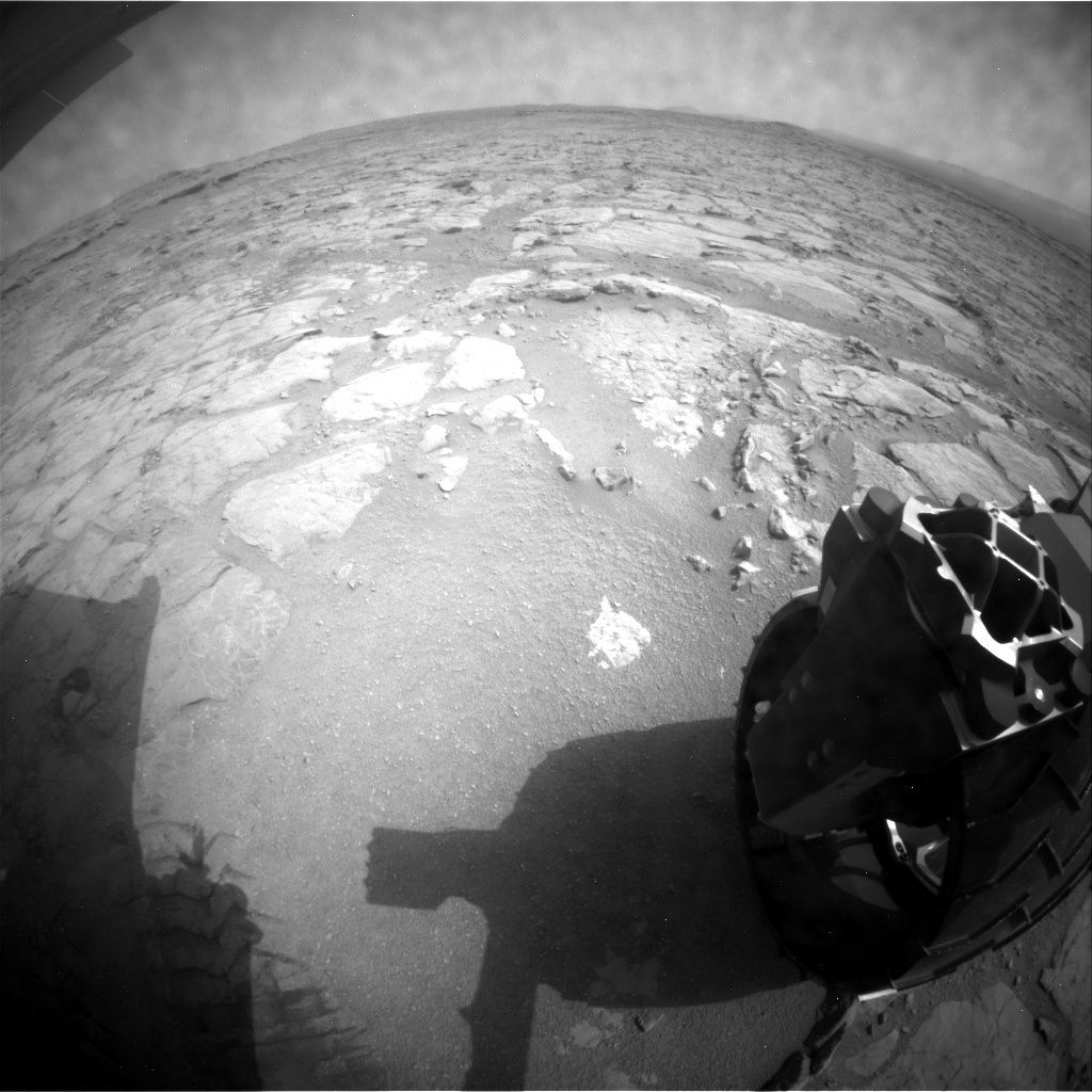 NASA's Mars rover Curiosity acquired this image using its Rear Hazard Avoidance Cameras (Rear Hazcams) on Sol 161