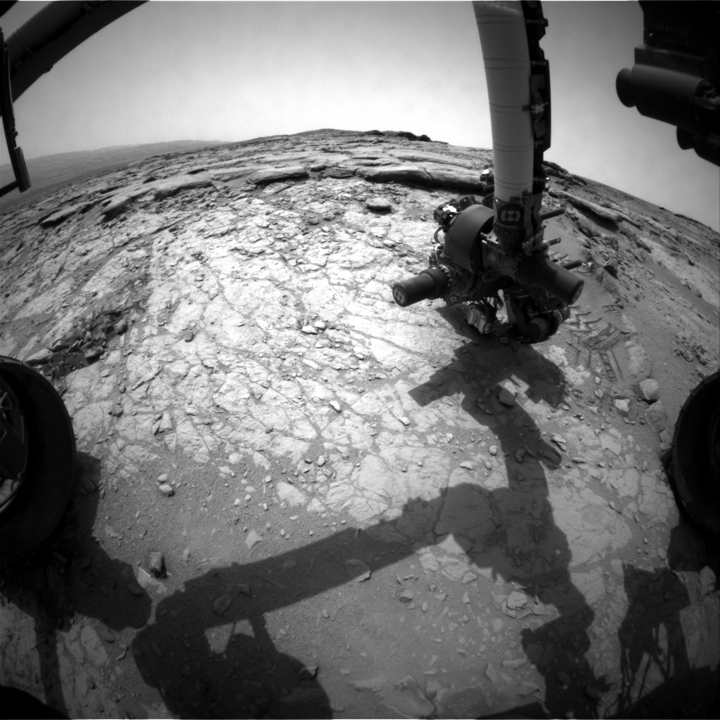 NASA's Mars rover Curiosity acquired this image using its Front Hazard Avoidance Cameras (Front Hazcams) on Sol 162