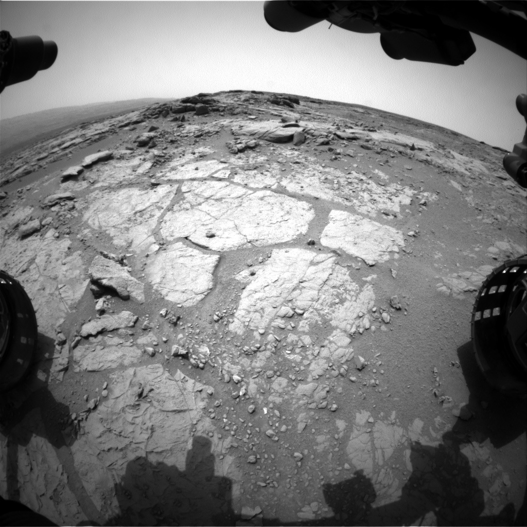 NASA's Mars rover Curiosity acquired this image using its Front Hazard Avoidance Cameras (Front Hazcams) on Sol 163