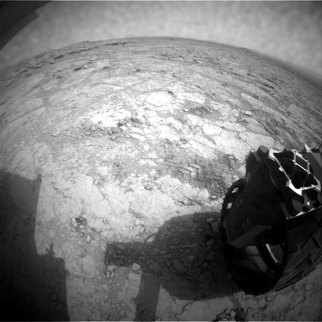 NASA's Mars rover Curiosity acquired this image using its Rear Hazard Avoidance Cameras (Rear Hazcams) on Sol 163