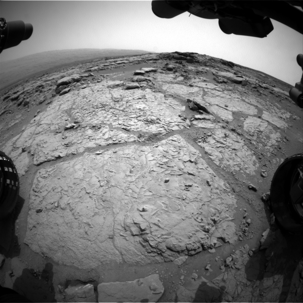 NASA's Mars rover Curiosity acquired this image using its Front Hazard Avoidance Cameras (Front Hazcams) on Sol 164