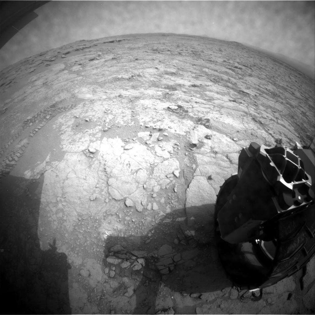 NASA's Mars rover Curiosity acquired this image using its Rear Hazard Avoidance Cameras (Rear Hazcams) on Sol 164