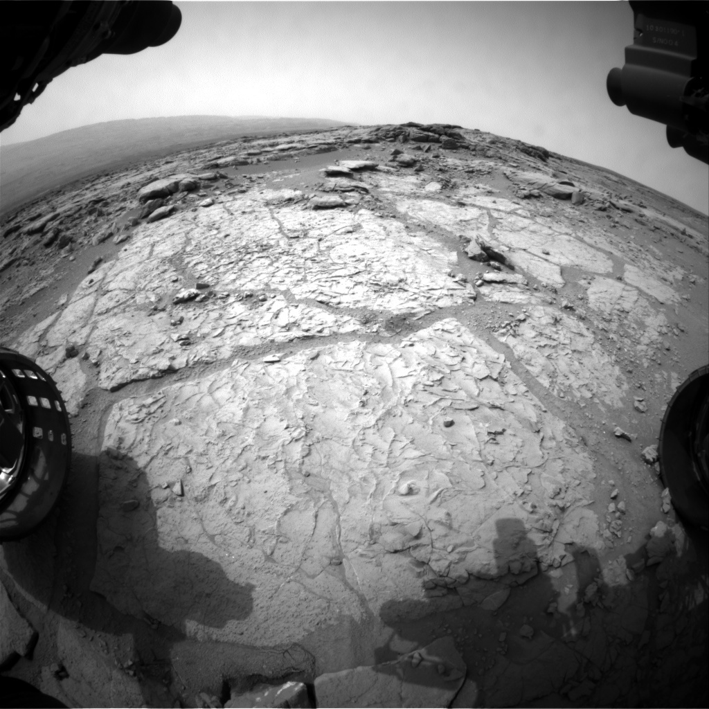 NASA's Mars rover Curiosity acquired this image using its Front Hazard Avoidance Cameras (Front Hazcams) on Sol 165
