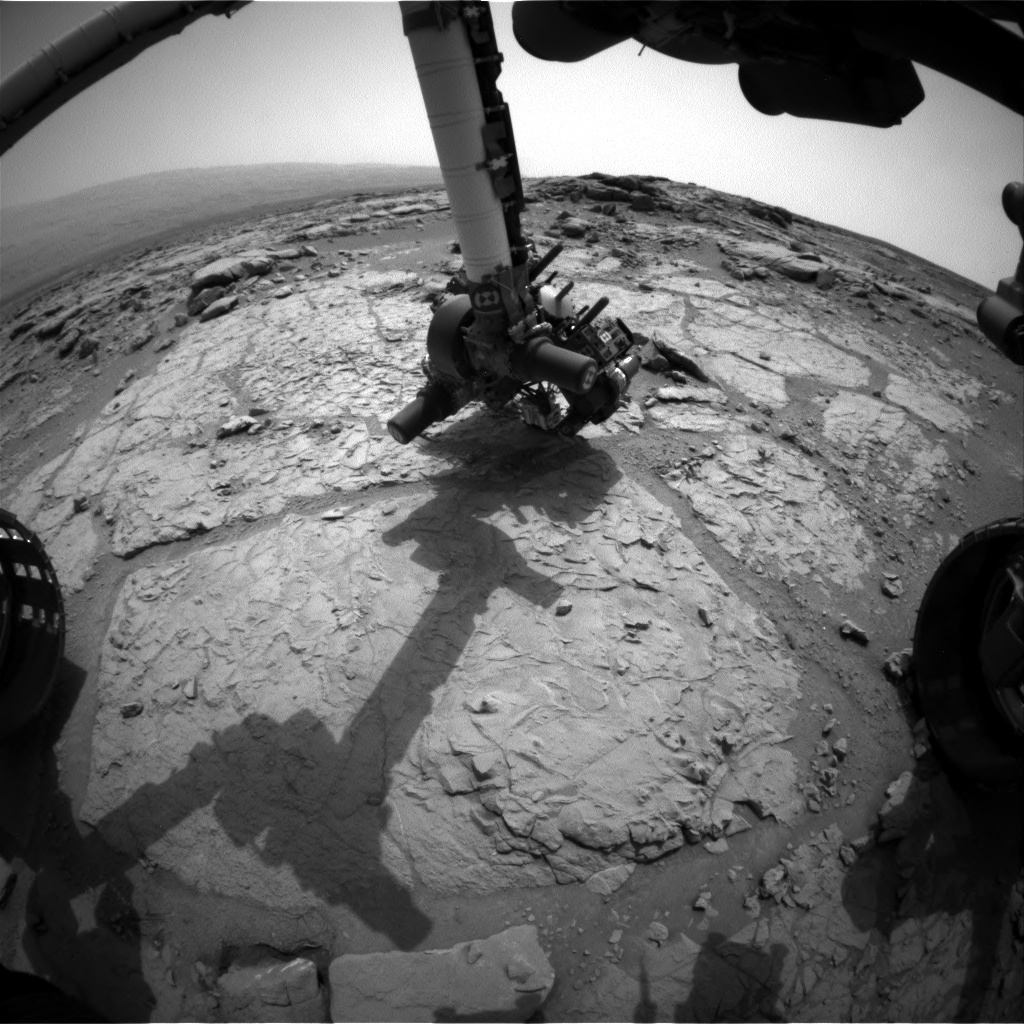 NASA's Mars rover Curiosity acquired this image using its Front Hazard Avoidance Cameras (Front Hazcams) on Sol 166
