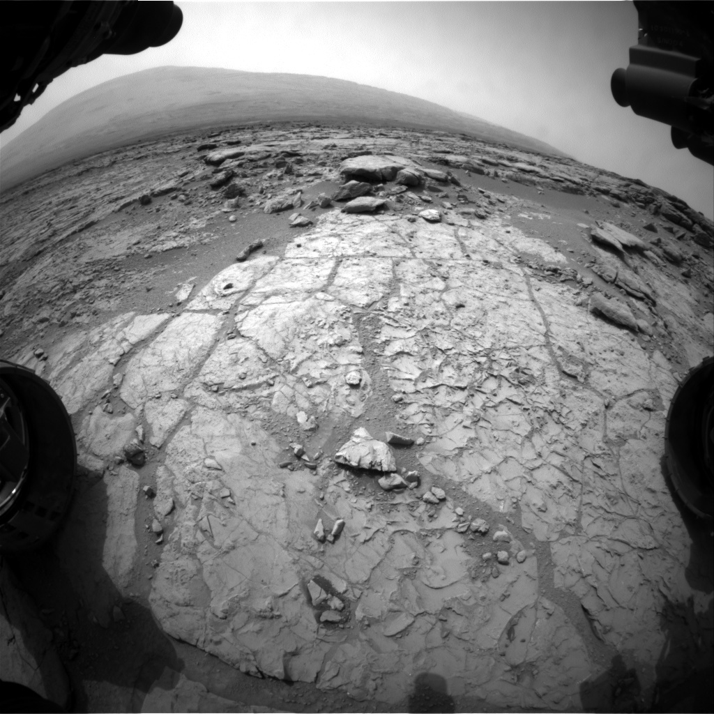NASA's Mars rover Curiosity acquired this image using its Front Hazard Avoidance Cameras (Front Hazcams) on Sol 167