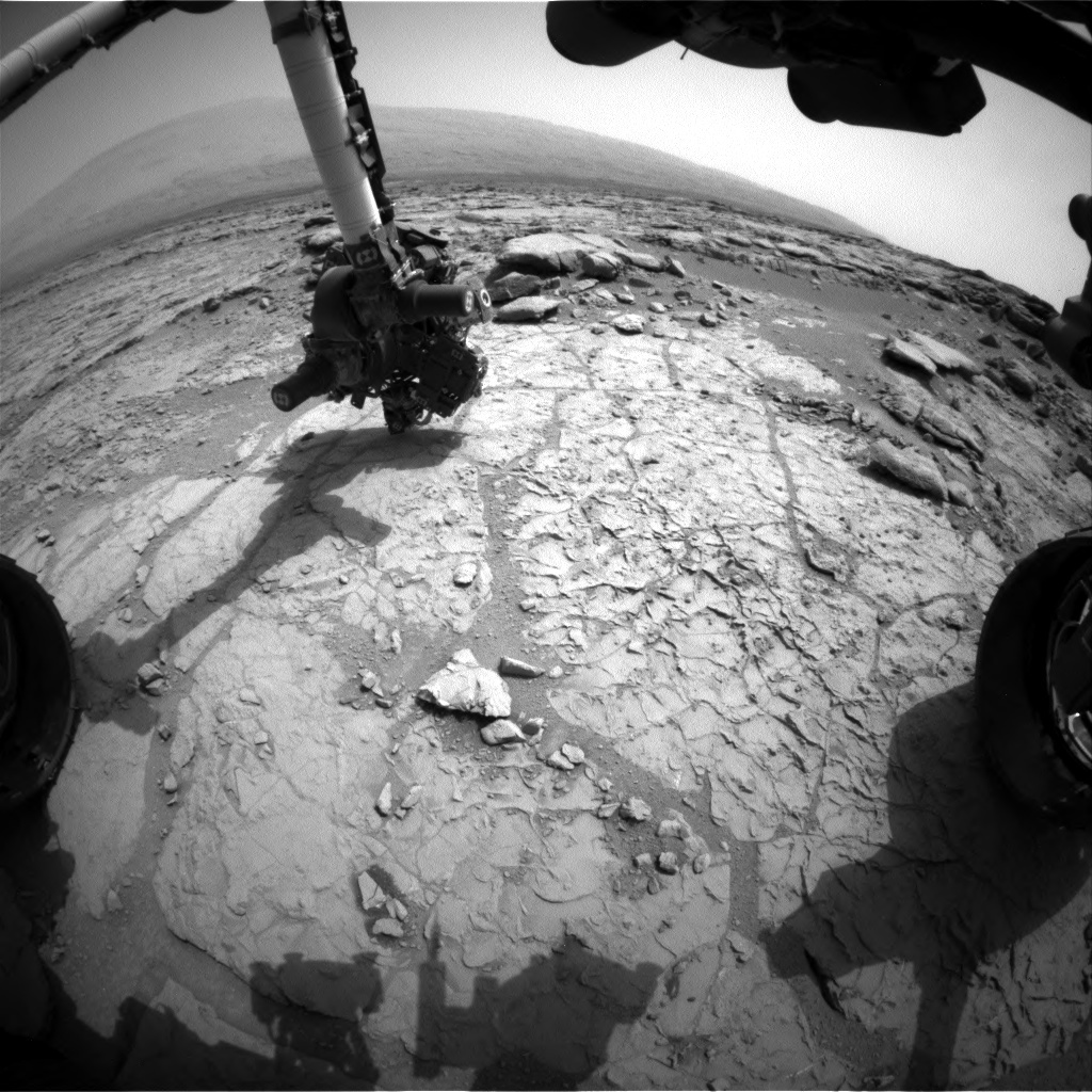 NASA's Mars rover Curiosity acquired this image using its Front Hazard Avoidance Cameras (Front Hazcams) on Sol 168
