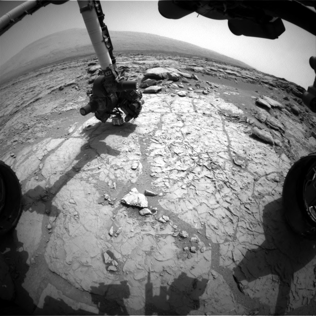 NASA's Mars rover Curiosity acquired this image using its Front Hazard Avoidance Cameras (Front Hazcams) on Sol 169