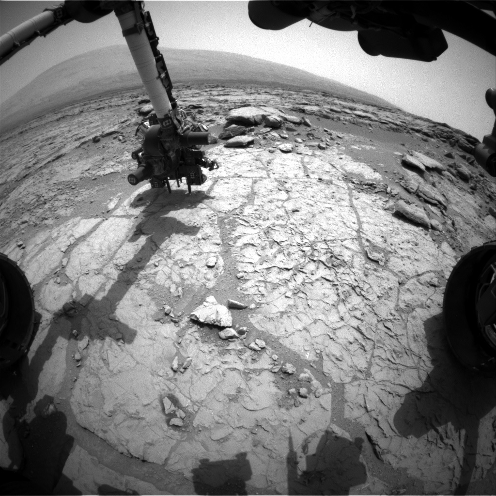 NASA's Mars rover Curiosity acquired this image using its Front Hazard Avoidance Cameras (Front Hazcams) on Sol 170