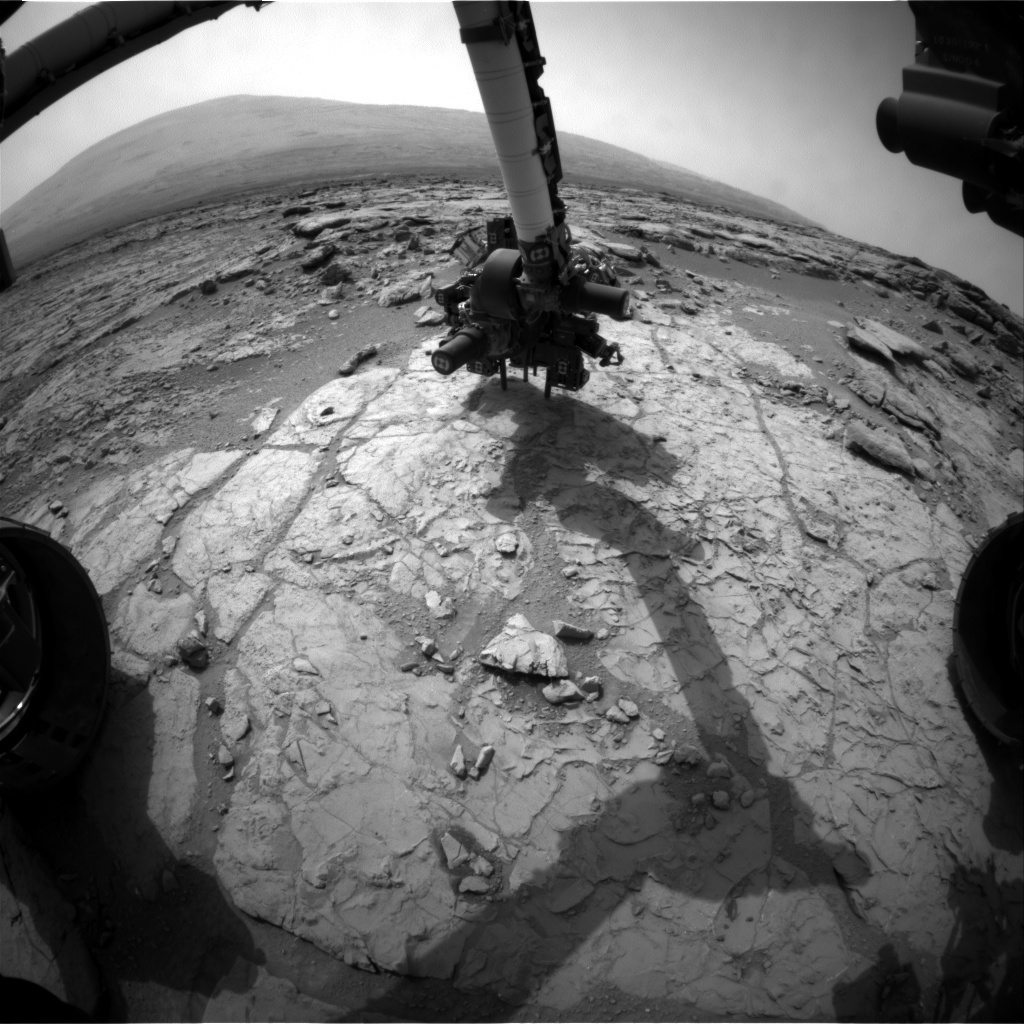 NASA's Mars rover Curiosity acquired this image using its Front Hazard Avoidance Cameras (Front Hazcams) on Sol 171