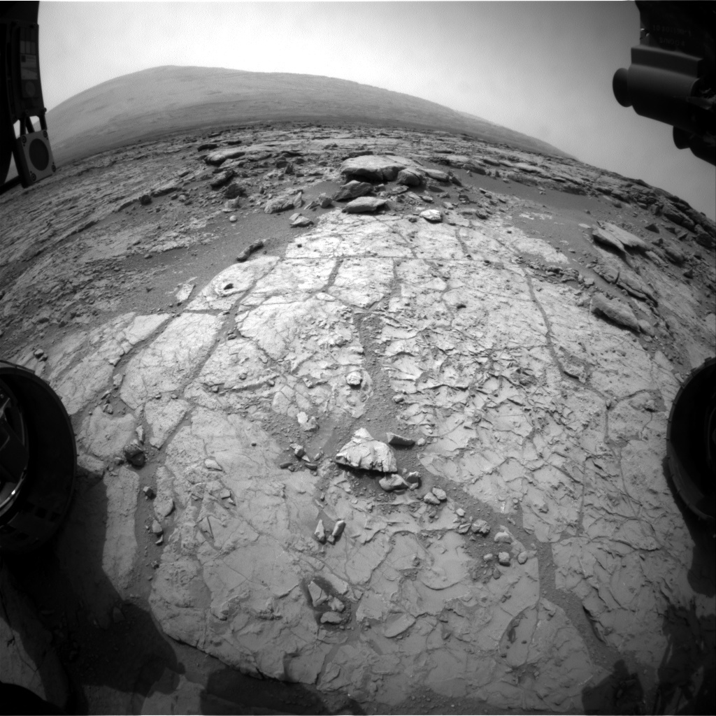 NASA's Mars rover Curiosity acquired this image using its Front Hazard Avoidance Cameras (Front Hazcams) on Sol 172