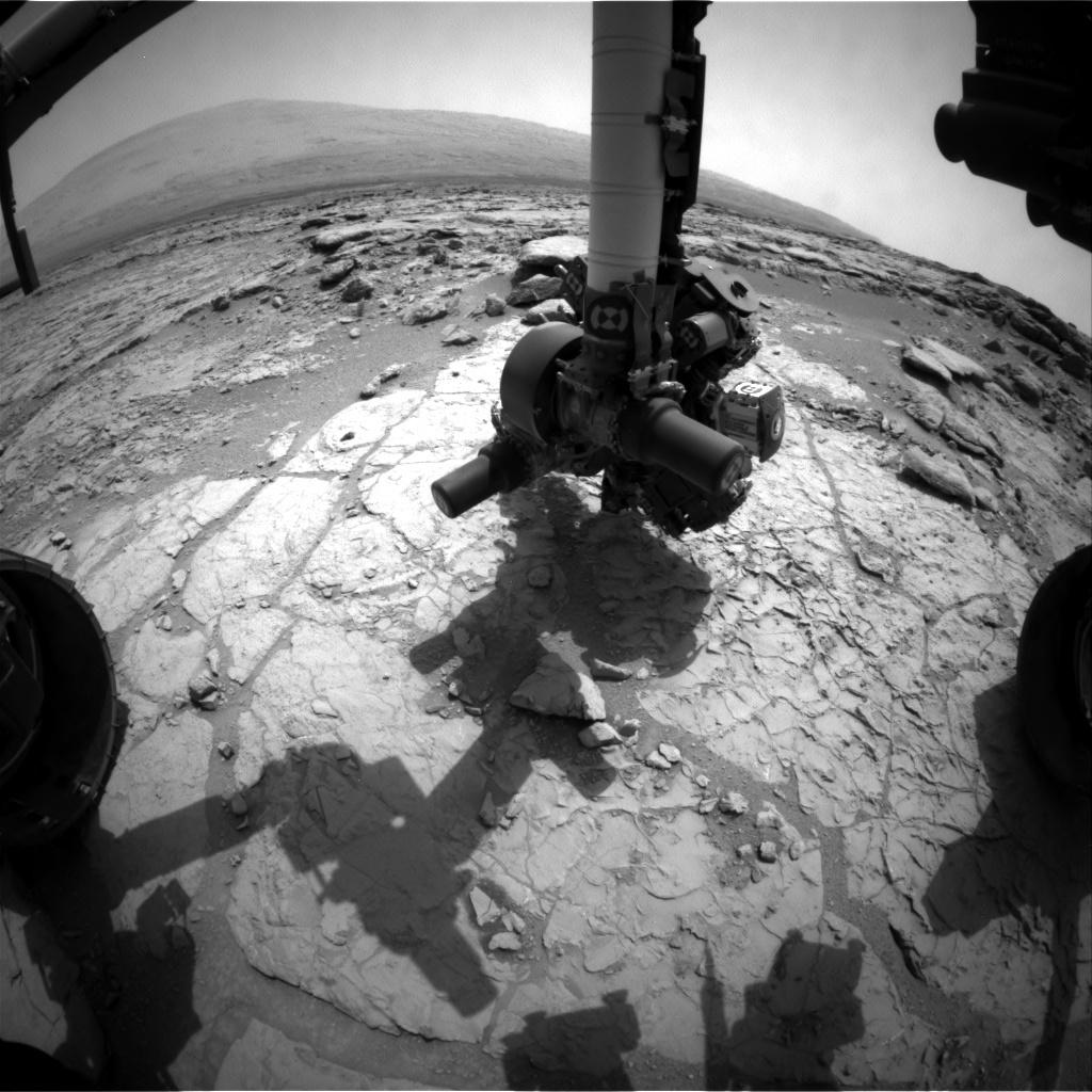 NASA's Mars rover Curiosity acquired this image using its Front Hazard Avoidance Cameras (Front Hazcams) on Sol 173