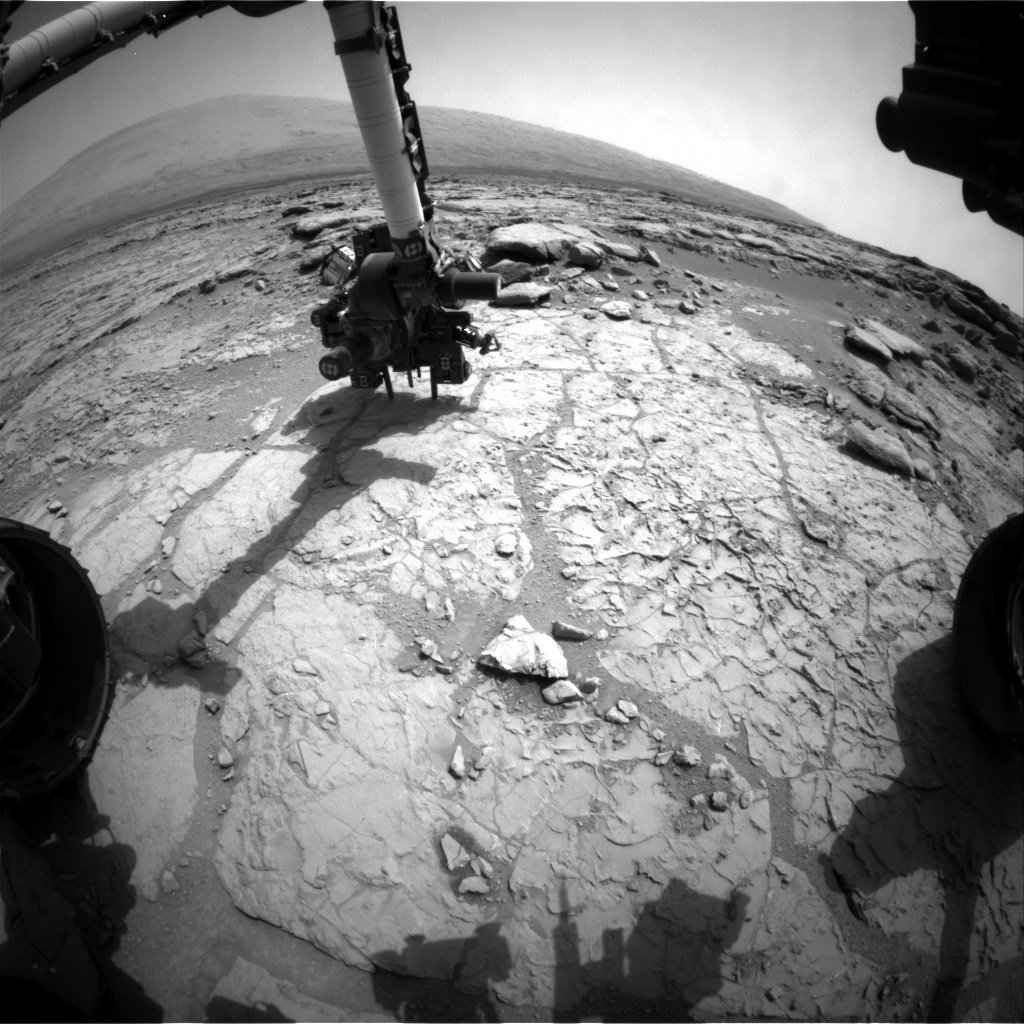 NASA's Mars rover Curiosity acquired this image using its Front Hazard Avoidance Cameras (Front Hazcams) on Sol 174
