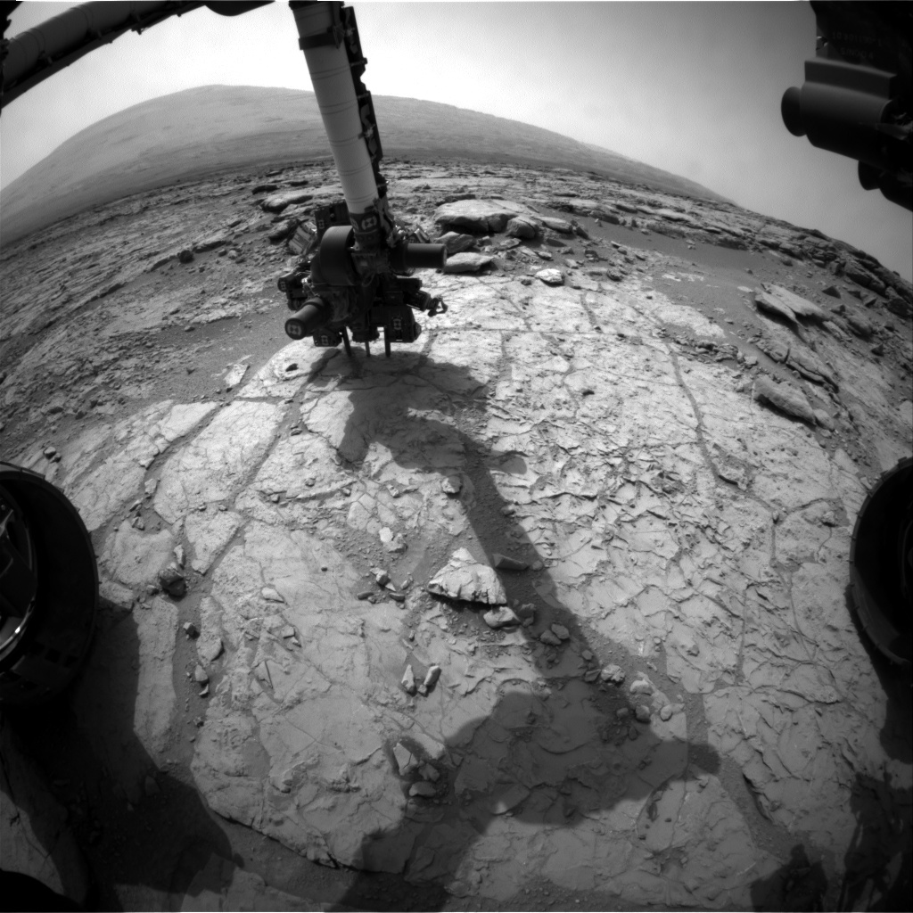 NASA's Mars rover Curiosity acquired this image using its Front Hazard Avoidance Cameras (Front Hazcams) on Sol 175