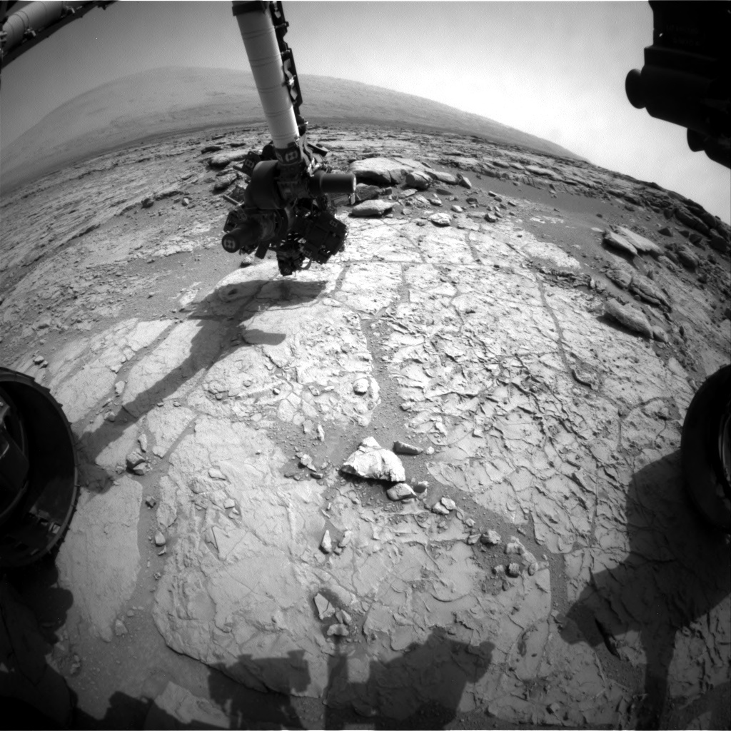 NASA's Mars rover Curiosity acquired this image using its Front Hazard Avoidance Cameras (Front Hazcams) on Sol 176