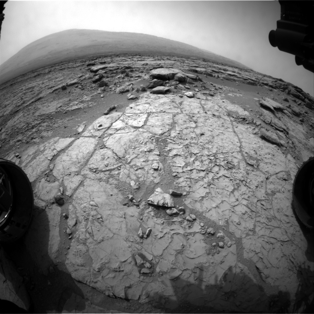 NASA's Mars rover Curiosity acquired this image using its Front Hazard Avoidance Cameras (Front Hazcams) on Sol 177