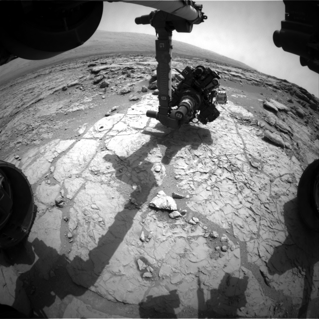 NASA's Mars rover Curiosity acquired this image using its Front Hazard Avoidance Cameras (Front Hazcams) on Sol 179