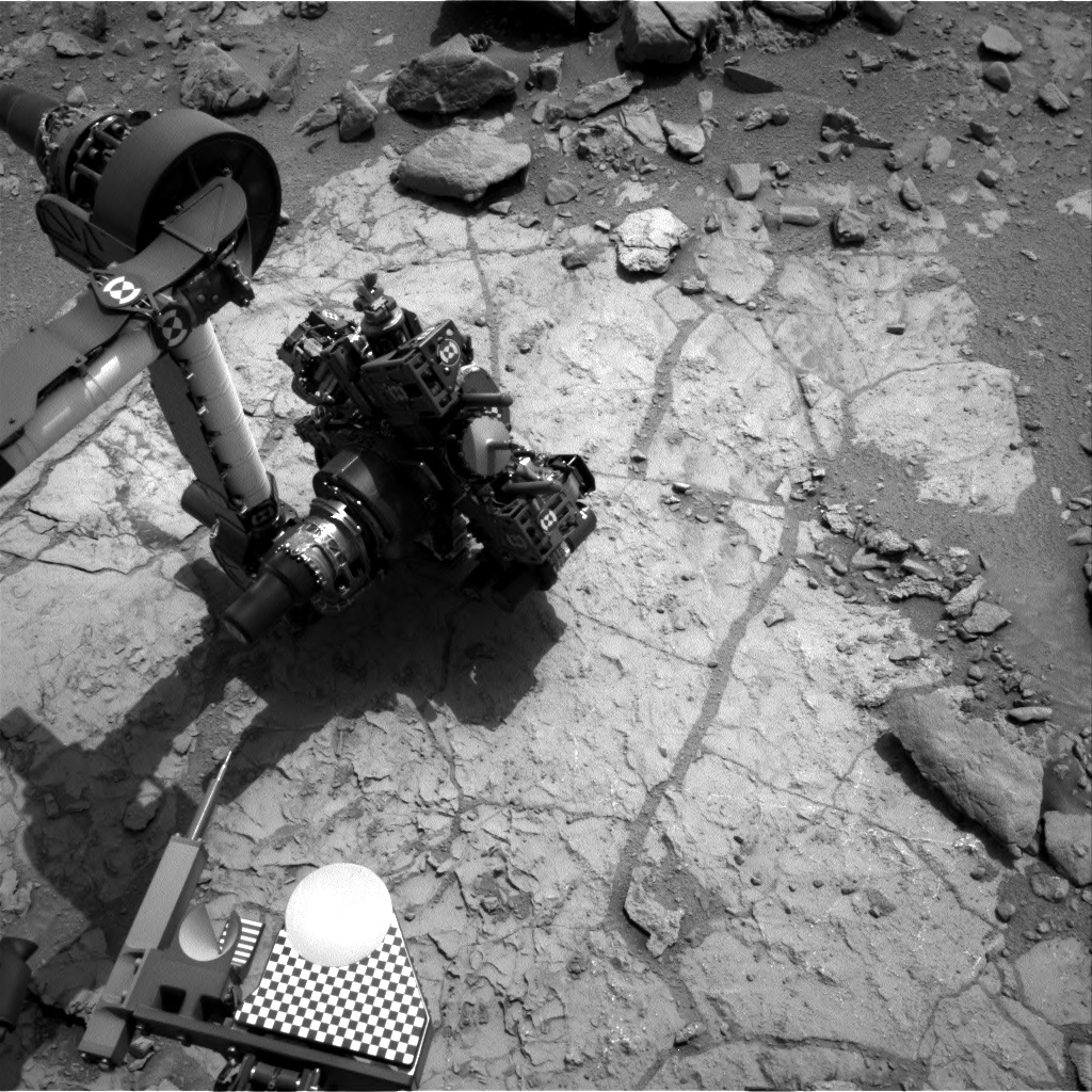 NASA's Mars rover Curiosity acquired this image using its Right Navigation Cameras (Navcams) on Sol 179