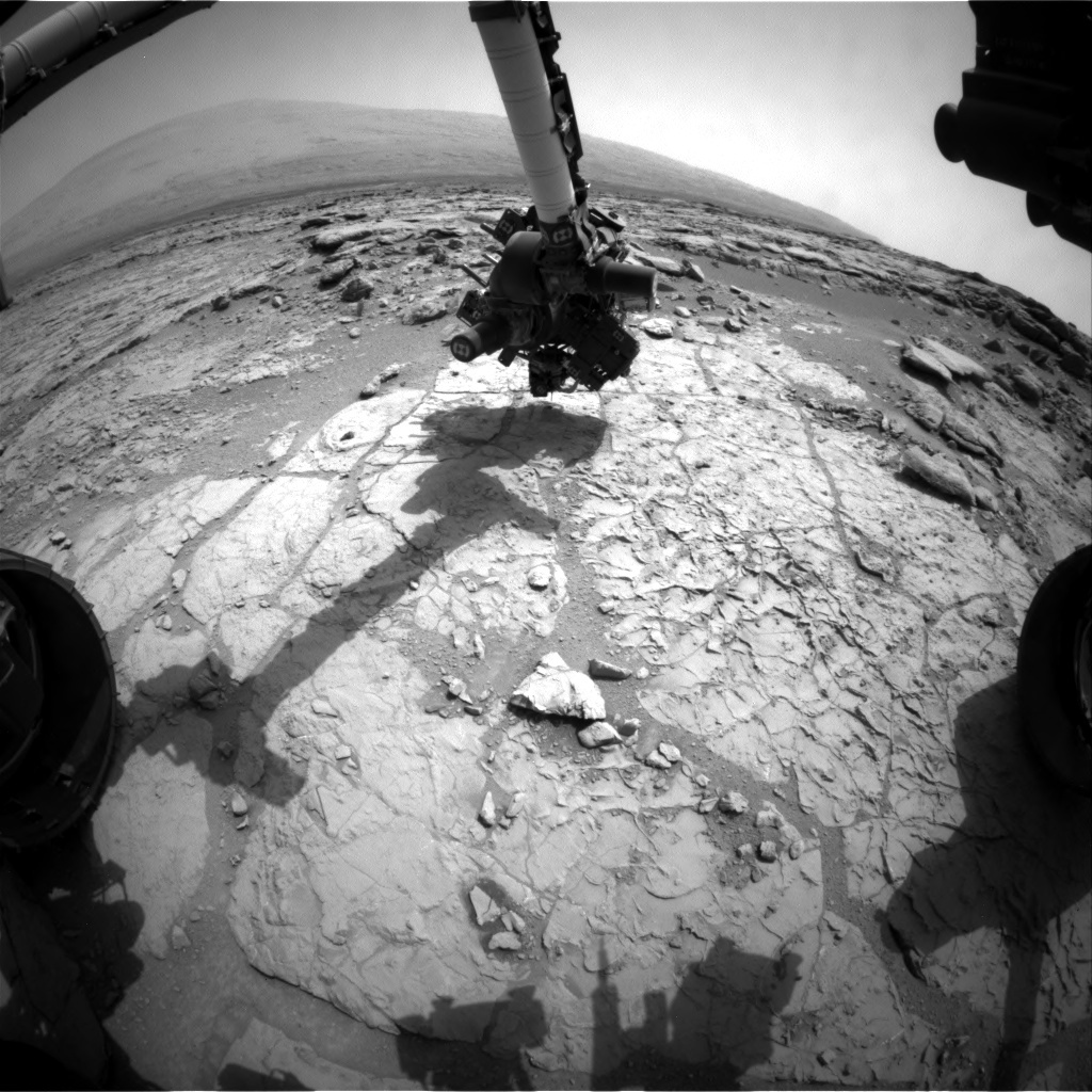 NASA's Mars rover Curiosity acquired this image using its Front Hazard Avoidance Cameras (Front Hazcams) on Sol 180