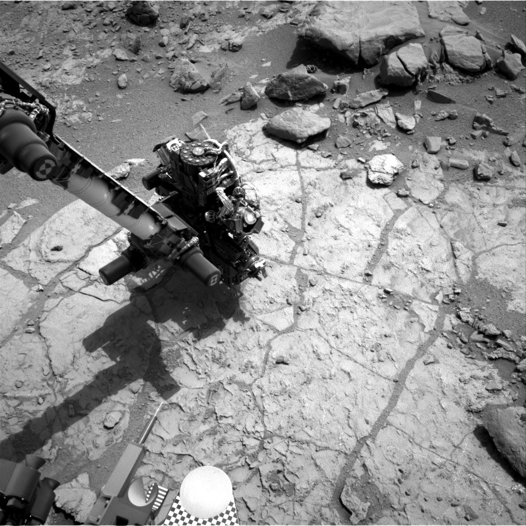 NASA's Mars rover Curiosity acquired this image using its Right Navigation Cameras (Navcams) on Sol 180