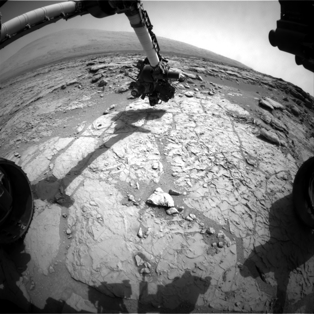 NASA's Mars rover Curiosity acquired this image using its Front Hazard Avoidance Cameras (Front Hazcams) on Sol 181