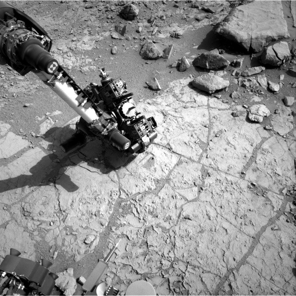 NASA's Mars rover Curiosity acquired this image using its Right Navigation Cameras (Navcams) on Sol 181