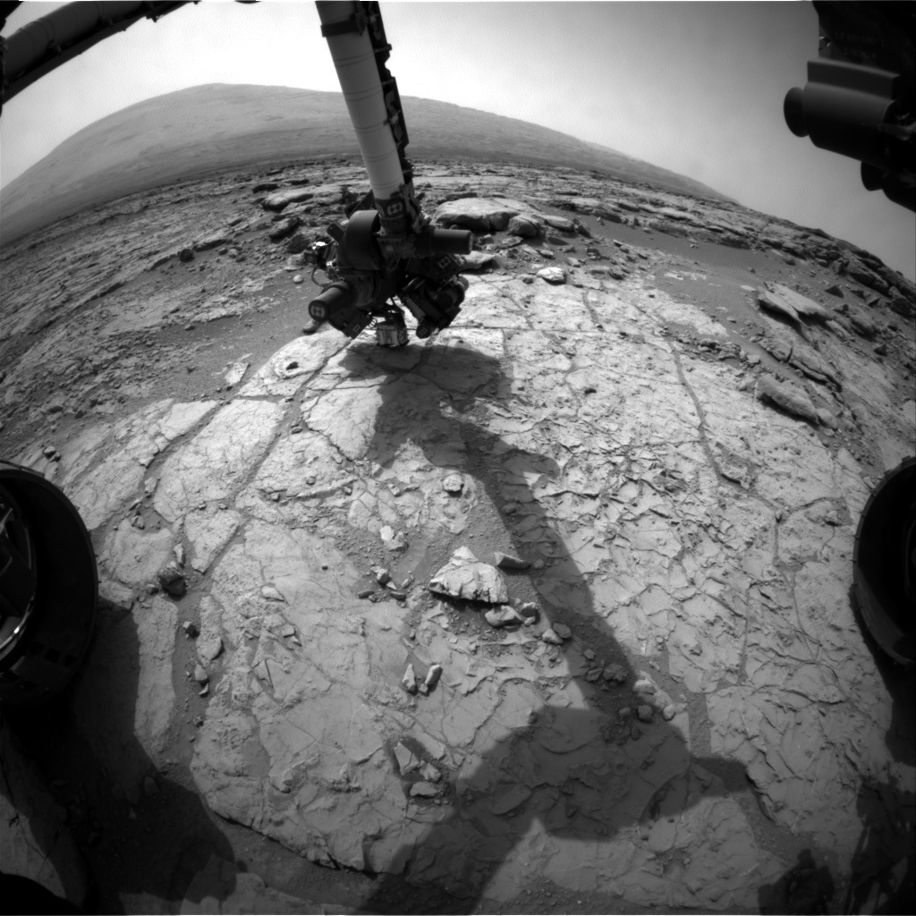 NASA's Mars rover Curiosity acquired this image using its Front Hazard Avoidance Cameras (Front Hazcams) on Sol 182