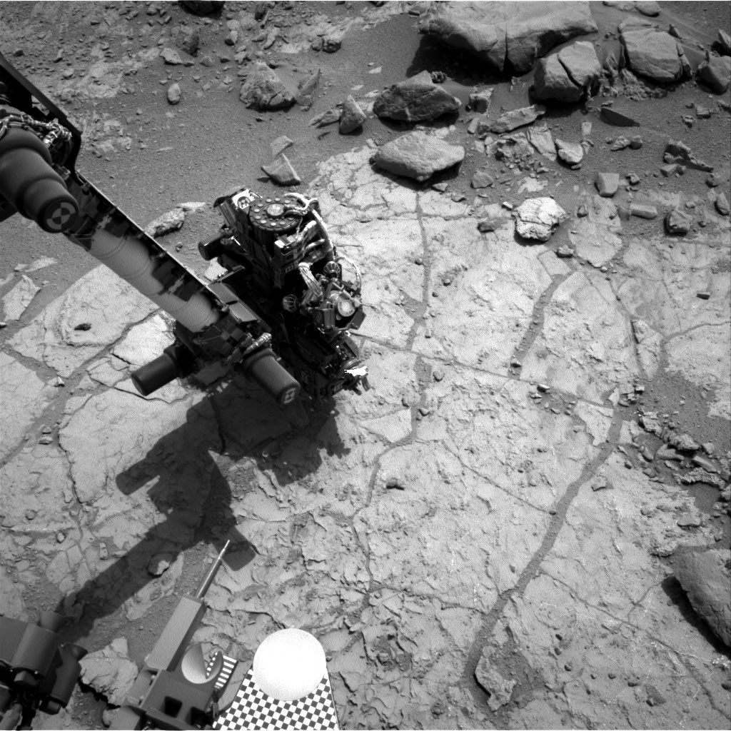 NASA's Mars rover Curiosity acquired this image using its Right Navigation Cameras (Navcams) on Sol 182
