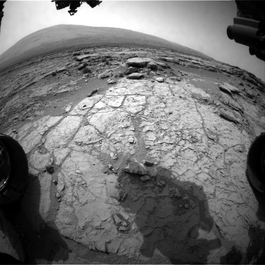NASA's Mars rover Curiosity acquired this image using its Front Hazard Avoidance Cameras (Front Hazcams) on Sol 183
