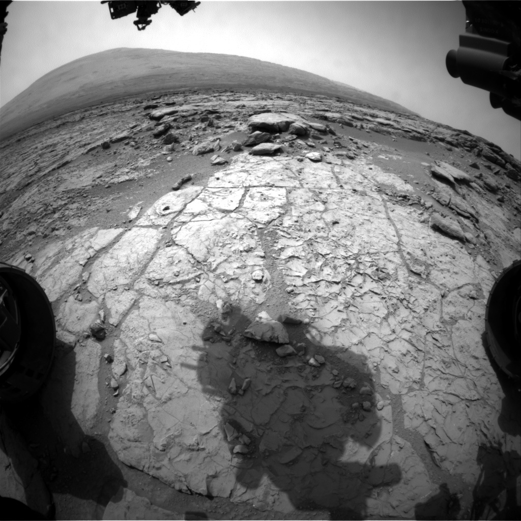 NASA's Mars rover Curiosity acquired this image using its Front Hazard Avoidance Cameras (Front Hazcams) on Sol 184