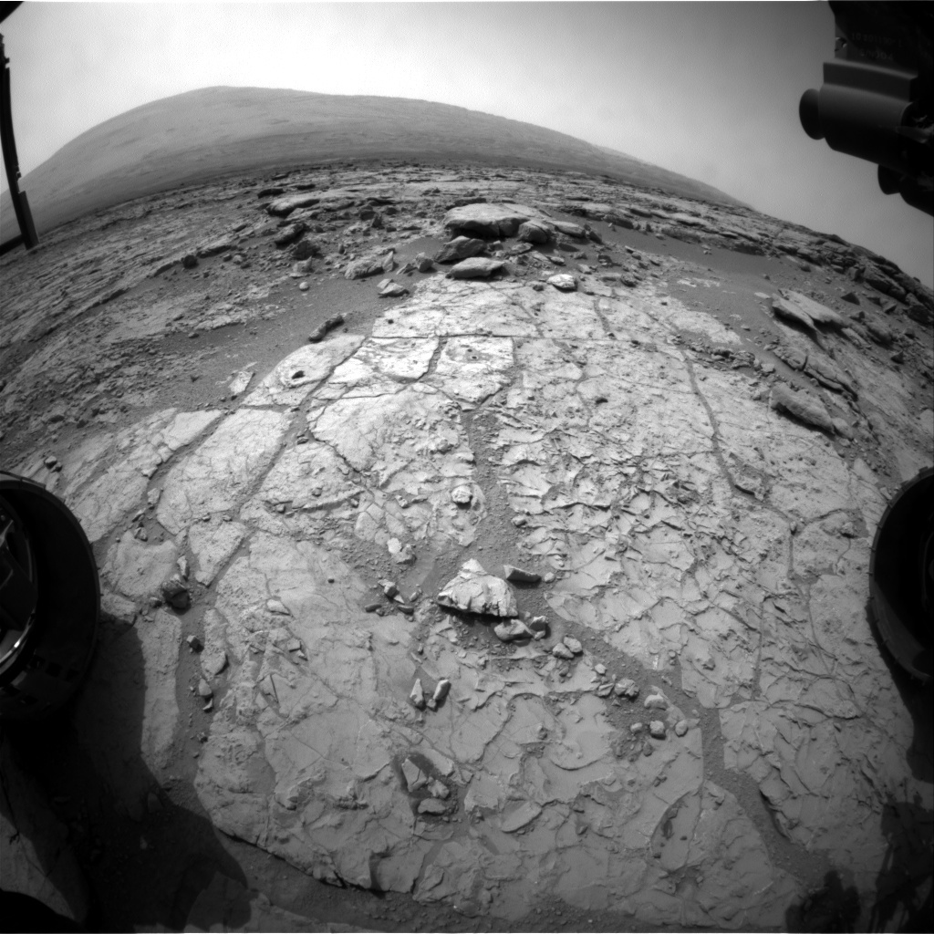 NASA's Mars rover Curiosity acquired this image using its Front Hazard Avoidance Cameras (Front Hazcams) on Sol 190