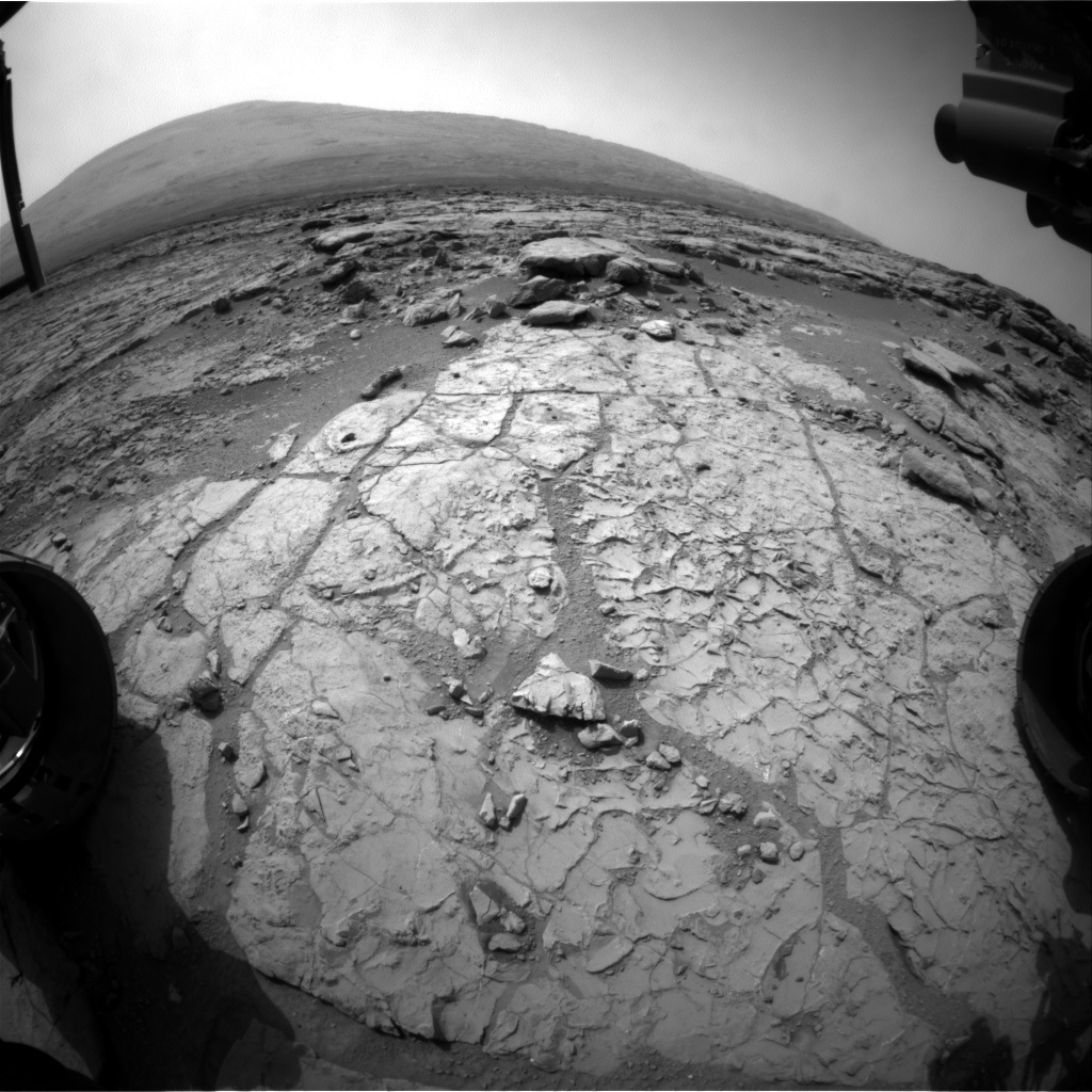 NASA's Mars rover Curiosity acquired this image using its Front Hazard Avoidance Cameras (Front Hazcams) on Sol 196
