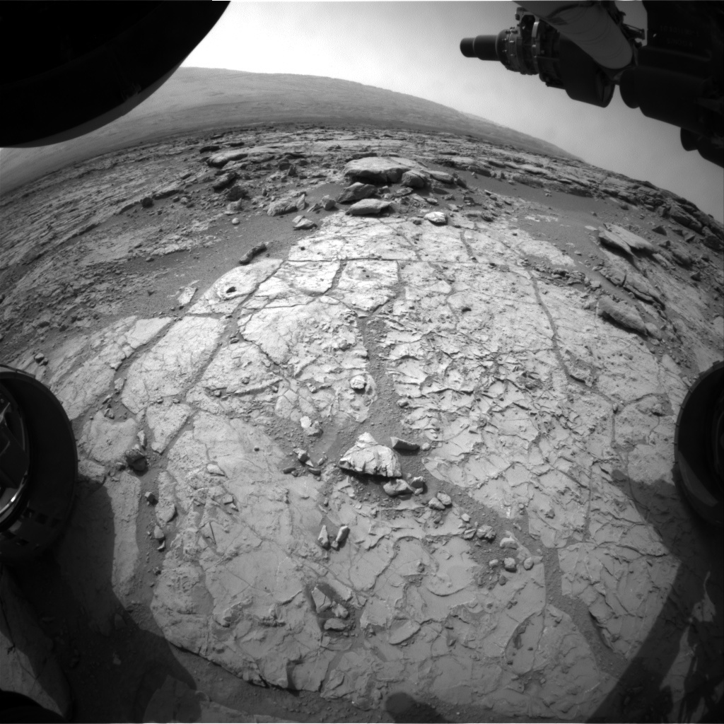NASA's Mars rover Curiosity acquired this image using its Front Hazard Avoidance Cameras (Front Hazcams) on Sol 197