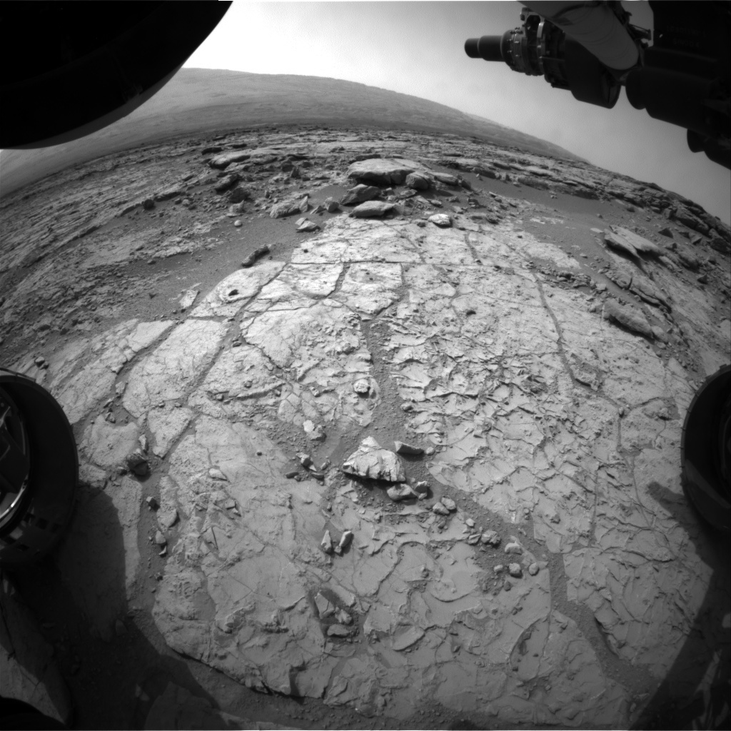 NASA's Mars rover Curiosity acquired this image using its Front Hazard Avoidance Cameras (Front Hazcams) on Sol 198
