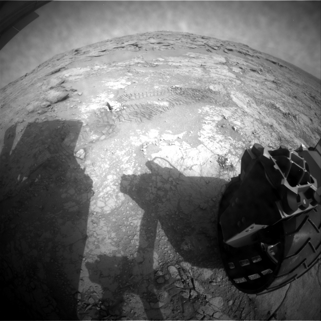 NASA's Mars rover Curiosity acquired this image using its Rear Hazard Avoidance Cameras (Rear Hazcams) on Sol 198