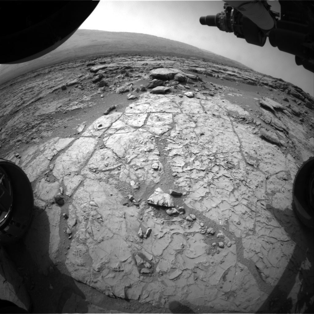 NASA's Mars rover Curiosity acquired this image using its Front Hazard Avoidance Cameras (Front Hazcams) on Sol 199