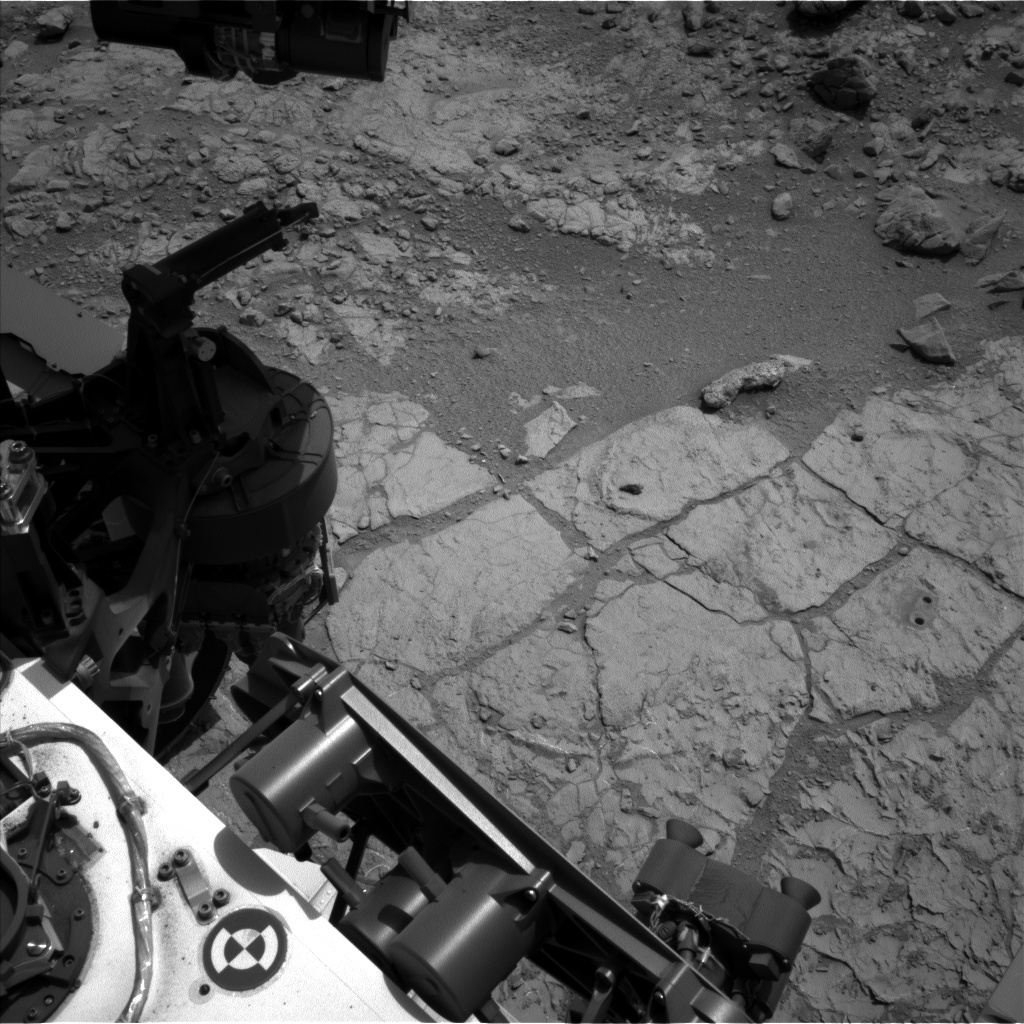 NASA's Mars rover Curiosity acquired this image using its Left Navigation Camera (Navcams) on Sol 215