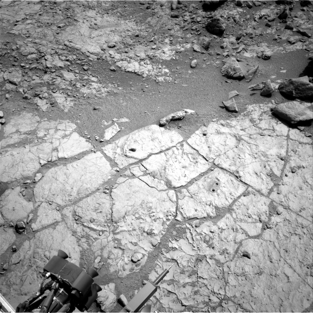 NASA's Mars rover Curiosity acquired this image using its Right Navigation Cameras (Navcams) on Sol 215