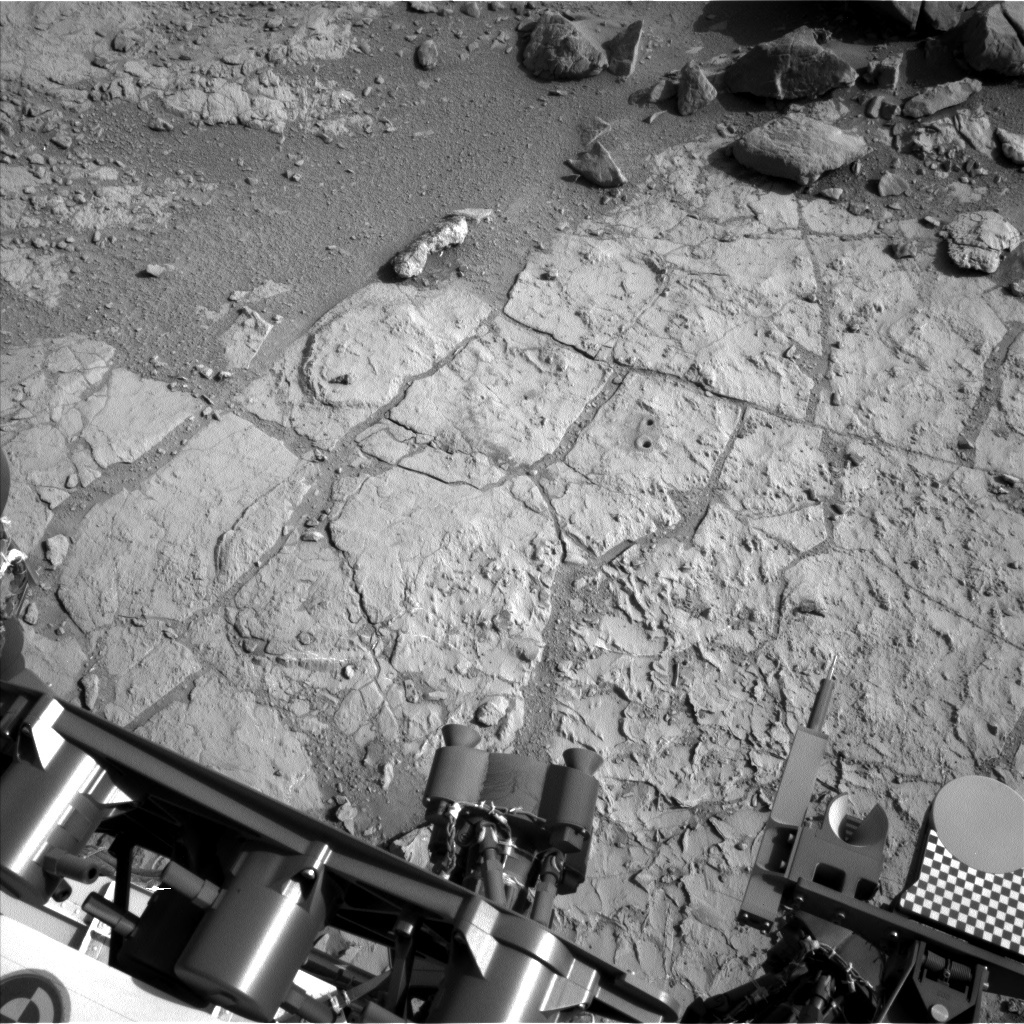 NASA's Mars rover Curiosity acquired this image using its Left Navigation Camera (Navcams) on Sol 222