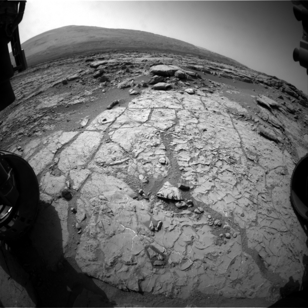 NASA's Mars rover Curiosity acquired this image using its Front Hazard Avoidance Cameras (Front Hazcams) on Sol 223