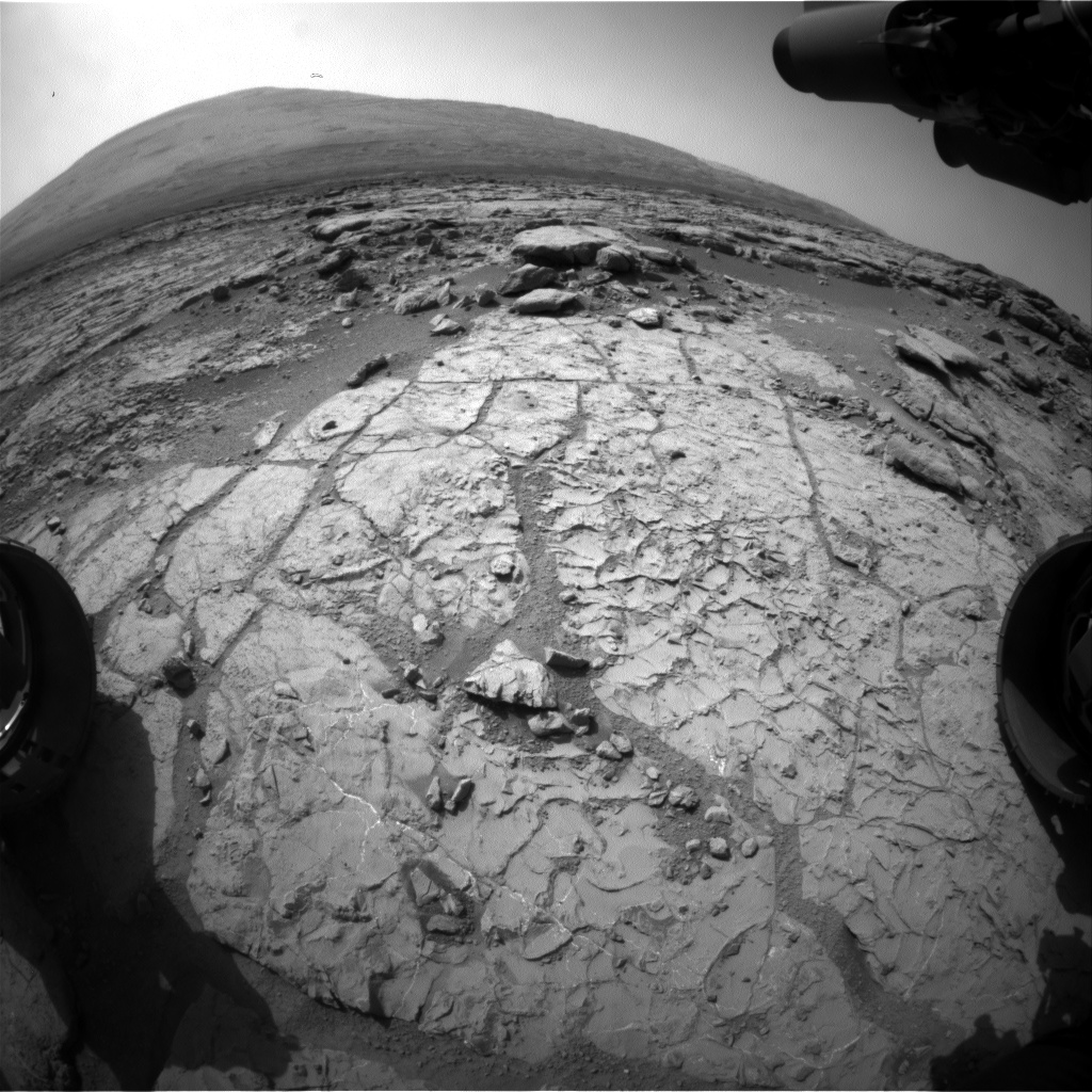 Nasa's Mars rover Curiosity acquired this image using its Front Hazard Avoidance Camera (Front Hazcam) on Sol 223, at drive 0, site number 6