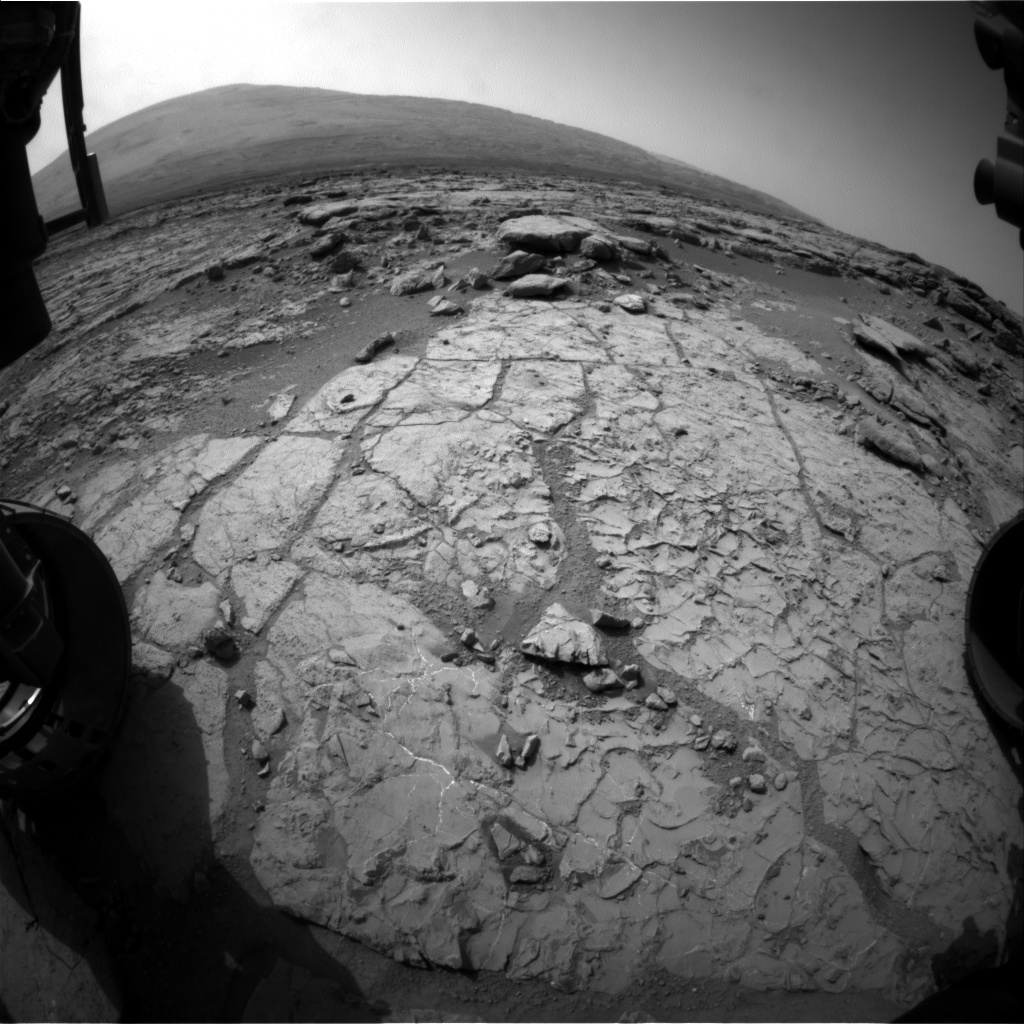 NASA's Mars rover Curiosity acquired this image using its Front Hazard Avoidance Cameras (Front Hazcams) on Sol 225