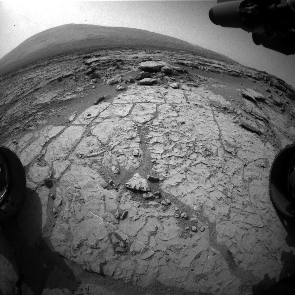 Nasa's Mars rover Curiosity acquired this image using its Front Hazard Avoidance Camera (Front Hazcam) on Sol 225, at drive 0, site number 6