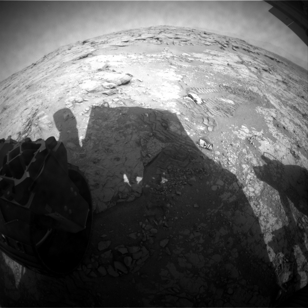 NASA's Mars rover Curiosity acquired this image using its Rear Hazard Avoidance Cameras (Rear Hazcams) on Sol 227